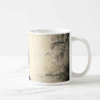 Halcón vigilante taza básica blanca