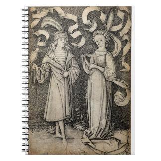 Halconero y señora libreta espiral