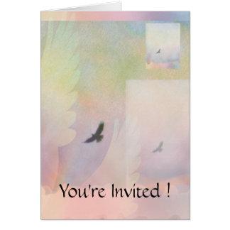 Halcones altísimos abstractos tarjeta pequeña