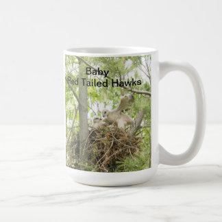 Halcones atados rojo del bebé de la taza o de
