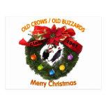 Halcones de las Felices Navidad Postal
