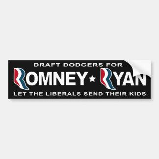 Halcones de pollo para Romney y Ryan Pegatina De Parachoque