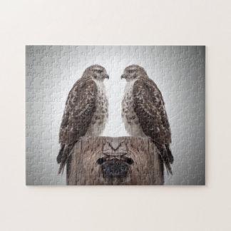 Halcones en un poste puzzle