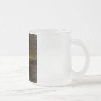 Halcyon Scan Frosted Glass Coffee Mug