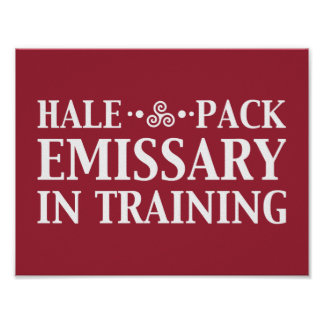 Hale Pack Emissary In Training Customizable Color Poster