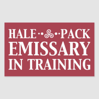 Hale Pack Emissary In Training Customizable Color Rectangular Sticker
