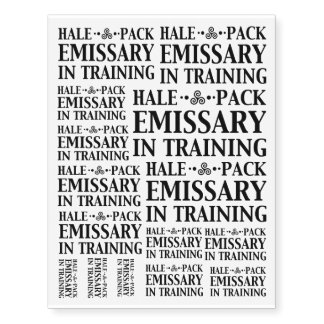 Hale Pack Emissary In Training Customizable color Temporary Tattoos