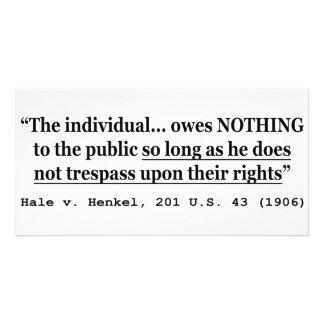 HALE V HENKEL 201 US 43 1906 Case Law Card