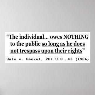HALE V HENKEL 201 US 43 1906 Case Law Poster