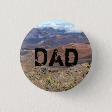 Hawaiian Themed Haleakala Button