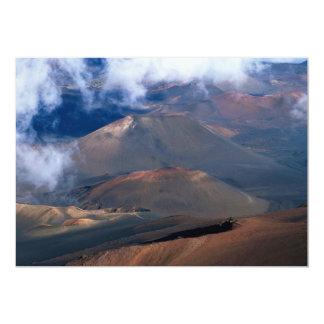 "Haleakala Crater, Maui, Hawaii, U.S.A. 5"" X 7"" Invitation Card"