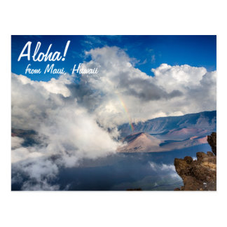 Haleakala Crater with Rainbow on Maui, Hawaii Postcard