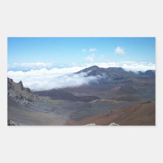 Haleakala, Hawaii Rectangular Pegatinas