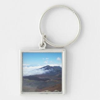 Haleakala, Hawaii Silver-Colored Square Keychain