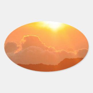 Haleakala Sunrise in Hawaii Oval Sticker