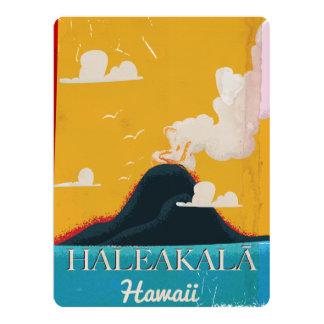 Haleakalā volcano vintage Hawaii travel poster Card