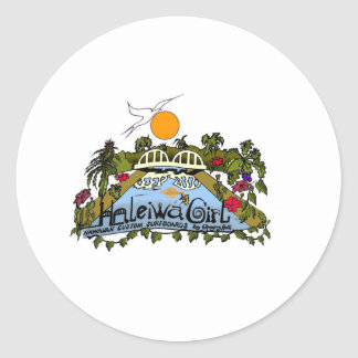 Haleiwa Girl products Classic Round Sticker
