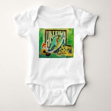 Toddler & Baby themed Haleiwa Hawaii Hula Aloha baby Baby Bodysuit