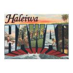 Haleiwa, Hawaii - Large Letter Scenes Canvas Prints