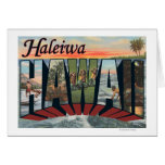Haleiwa, Hawaii - Large Letter Scenes Greeting Cards