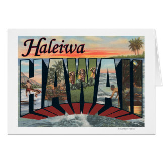 Haleiwa, Hawaii - Large Letter Scenes Card