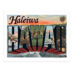 Haleiwa, Hawaii - Large Letter Scenes Postcard
