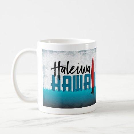 Haleiwa Hawaii Surfboard Surfing Coffee Mug