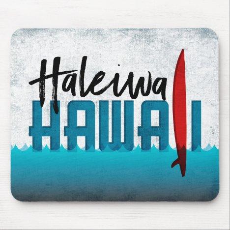 Haleiwa Hawaii Surfboard Surfing Mouse Pad