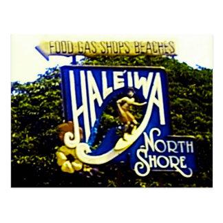 Haleiwa North Shore Hawaii postcard