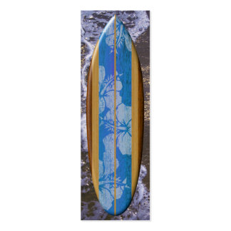 Haleiwa Surfboard Bookmark Double-Sided Mini Business Cards (Pack Of 20)