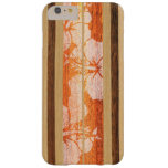 Haleiwa Surfboard Hawaiian Faux Wood Barely There iPhone 6 Plus Case
