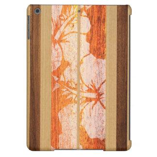 Haleiwa Surfboard Hawaiian Faux Wood iPad Air Case