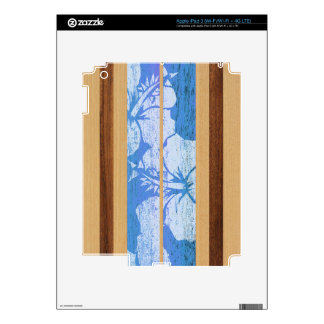 Haleiwa Surfboard Hawaiian iPad 3 or Tablet Skin Decals For iPad 3