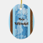 Haleiwa Vintage Faux Wood Surfboard Ornament