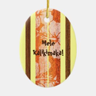 Haleiwa Vintage Surfboard Ornament