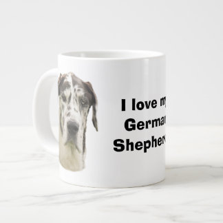Halequin Great Dane pet photo Giant Coffee Mug