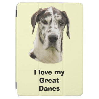 Halequin Great Dane pet photo iPad Air Cover