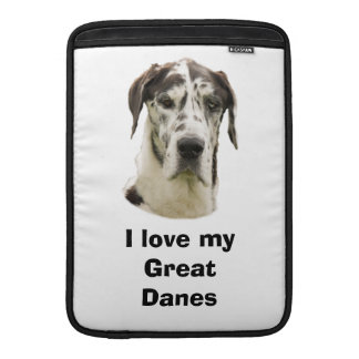 Halequin Great Dane pet photo Sleeve For MacBook Air