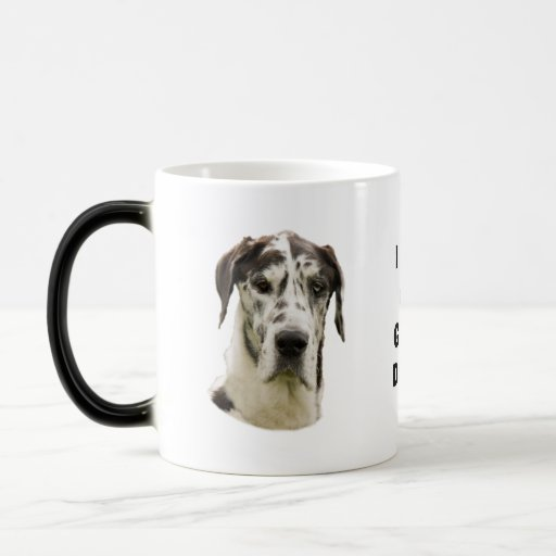 Halequin Great Dane portrait photo Coffee Mugs