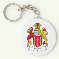 Hales Family Crest Keychain
