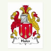 Hales Family Crest Postcard