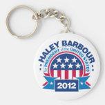 Haley Barbour para el presidente 2012 Llaveros Personalizados