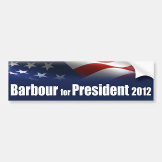 Haley Barbour para el presidente Etiqueta De Parachoque