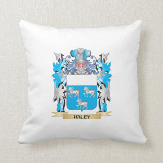 Haley Coat of Arms - Family Crest Throw Pillows