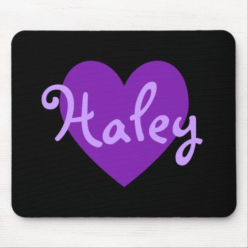 Haley in Purple Mousepad