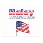 Haley Patriotic American Flag 2010 Elections Postcard