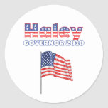 Haley Patriotic American Flag 2010 Elections Classic Round Sticker