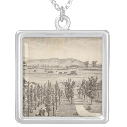Haley res, farm silver plated necklace