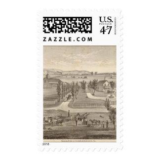 Haley res, granja sello postal