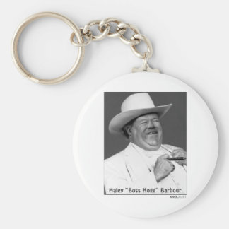 """Haley """"the Hogg"""" Barbour Basic Round Button Keychain"""